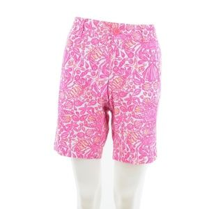 LILLY PULTIZER PINK SHELL PRINT BERMUDA SHORTS 6